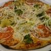 vegetarische Pizza mit Extras