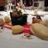 Kammmuscheln vom Grill mit Rote-Bete-Beurre blanc, Winterspinat und Pastinakenpüree