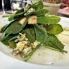 Spinatsalat mit Blauschimmelkäse und Birne