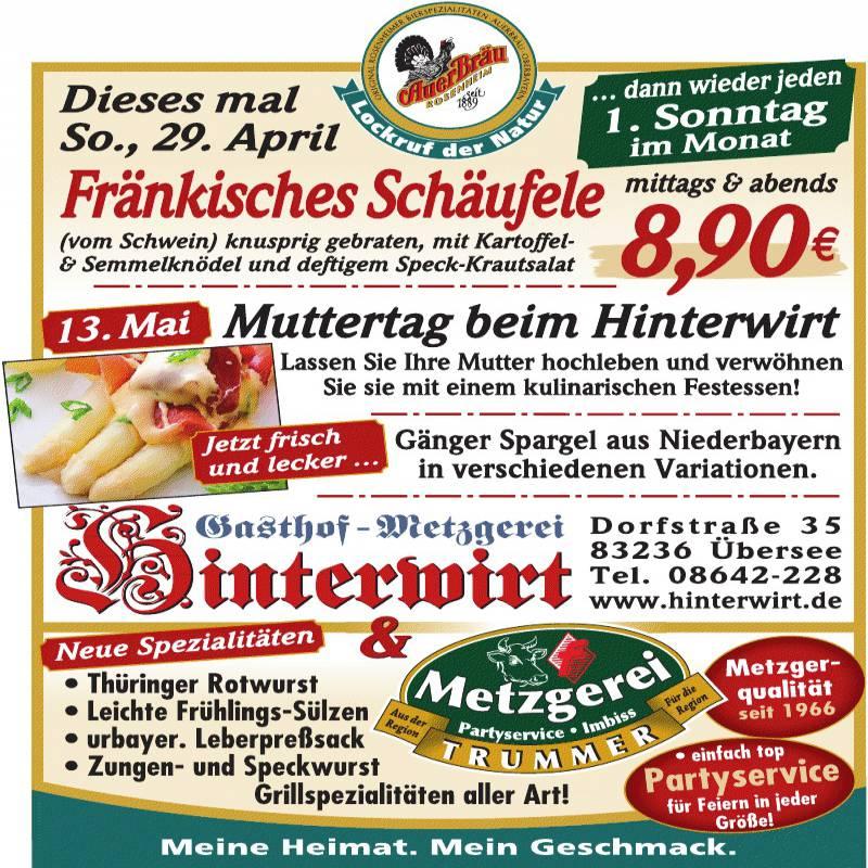 Bild zur Nachricht von Gasthof-Metzgerei Hinterwirt